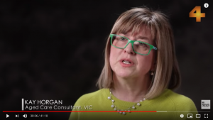 Kay Horgan aged care consultant on 4 corners TV program 2019